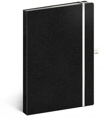 Notebook A5 Vivella Classic lined black/white 2019