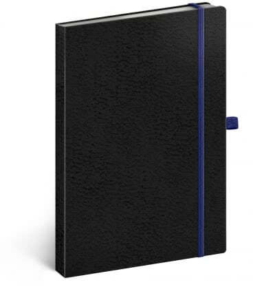 Notebook A5 Vivella Classic lined black/blue 2019