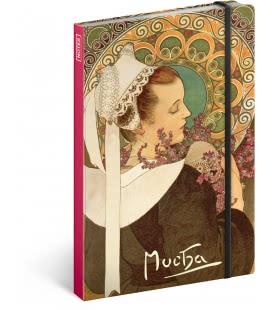 Notebook A5 Alphonse Mucha – Heather, unlined 2019