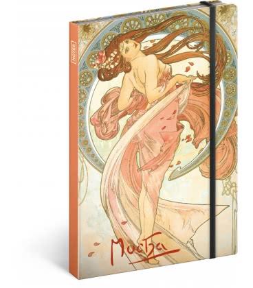 Notebook A5 Alphonse Mucha – Dance, unlined 2019