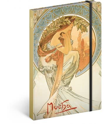 Notebook A5 Alphonse Mucha – Poetry, unlined 2019