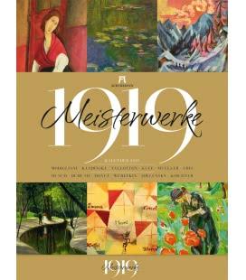 Nástěnný kalendář Mistrovská díla 1919 / Meisterwerke 1919 2019