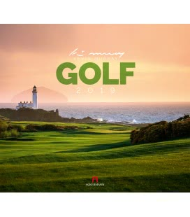 Wandkalender Golf 2019