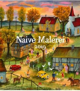 Wall calendar Naive Malerei 2019