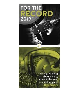 Nástěnný kalendář For the Record – der Vinyl Kalender 2019