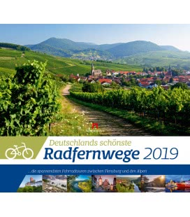 Wall calendar Deutschlands Radfernwege 2019