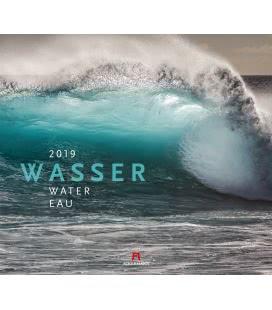 Nástěnný kalendář Voda / Wasser 2019