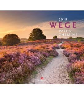 Nástěnný kalendář Cesty / Wege 2019