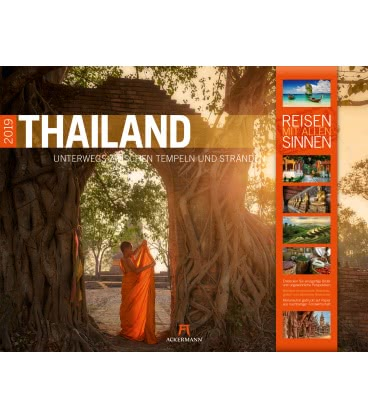 Wall calendar Thailand 2019
