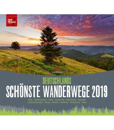 Wall calendar Deutschlands schönste Wanderwege 2019