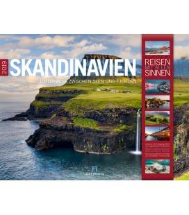Nástěnný kalendář Skandinávie / Skandinavien 2019