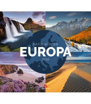 Nástěnný kalendář Krásy přírody Evropy / Naturwunder Europa 2019