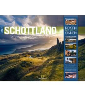 Wall calendar Schottland 2019