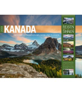 Wall calendar Kanada 2019