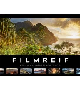 Nástěnný kalendář Krajiny ze známých filmů / Filmreif – Filmschauplätze 2019