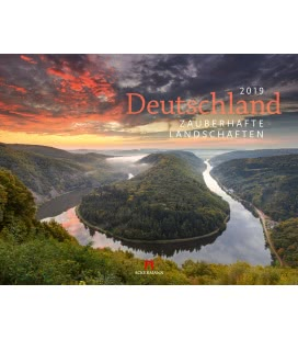Nástěnný kalendář Krajina Německa / Deutschland - Landschaften 2019