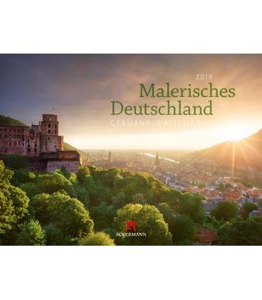 Nástěnný kalendář Malebné Německo / Malerisches Deutschland 2019