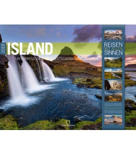 Nástěnný kalendář Island 2019