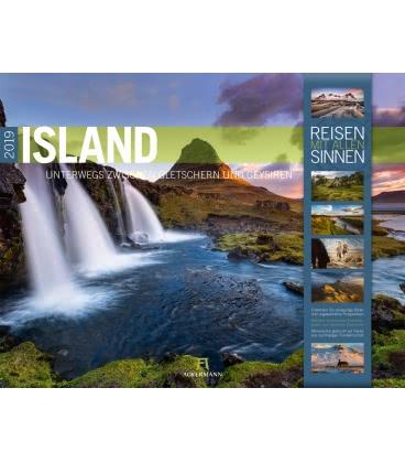 Wall calendar Island 2019