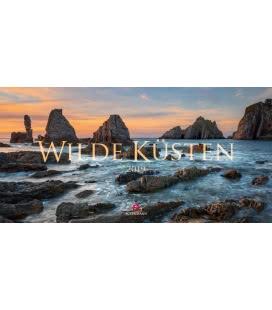 Nástěnný kalendář Divoká pobřeží / Wilde Küsten 2019