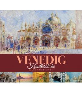 Nástěnný kalendář Benátky - v obrazech / Venedig – Künstlerblicke 2019