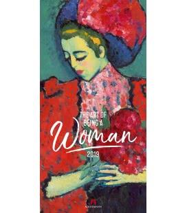 Nástěnný kalendář Umění být ženou / Art of being a Woman 2019