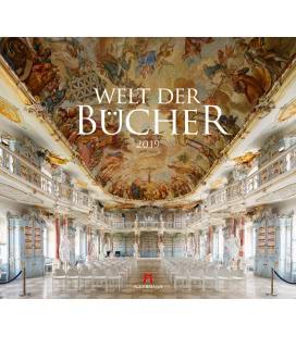 Nástěnný kalendář Svět knih / Welt der Bücher 2019