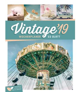 Wall calendar Vintage – Wochenplaner 2019