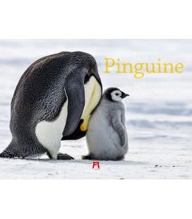Nástěnný kalendář Tučňáci / Pinguine 2019