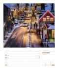 Nástěnný kalendář Island - týdenní plánovač / Island – Wochenplaner 2019