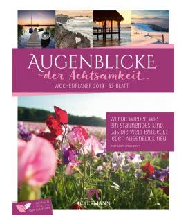 Nástěnný kalendář Okamžiky - týdenní plánovač / Augenblicke der Achtsamkeit – Wochenplane