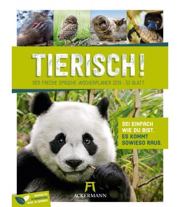 Wall calendar Tierisch – Wochenplaner 2019