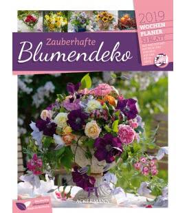 Nástěnný kalendář Květinové dekorace - týdenní plánovač / Zauberhafte Blumendeko – Wochen
