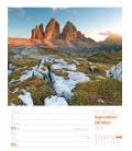 Nástěnný kalendář Alpy - týdenní plánovač / Faszination Alpenwelt – Wochenplaner 2019