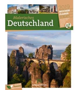 Nástěnný kalendář Malebné Německo - týdenní plánovač / Malerisches Deutschland – Wochenpl