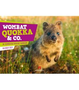 Nástěnný kalendář Wombat, Quokka & Co. 2019