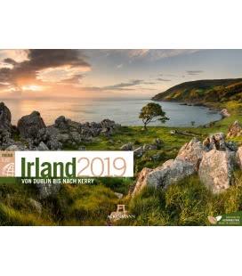Nástěnný kalendář Irsko / Irland ReiseLust 2019