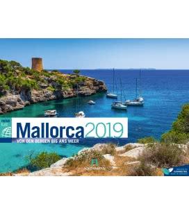 Nástěnný kalendář Mallorca / Mallorca ReiseLust 2019