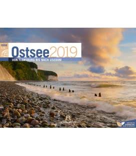 Nástěnný kalendář Baltské moře / Ostsee ReiseLust 2019