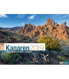 Nástěnný kalendář Kanárské ostrovy / Kanaren ReiseLust 2019