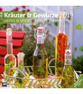 Nástěnný kalendář Bylinky a koření / Kräuter und Gewürze 2019