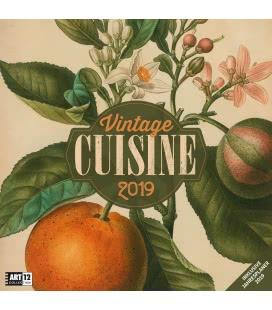 Wall calendar Vintage Cuisine 2019