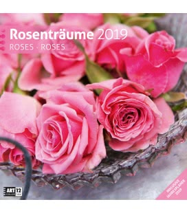 Nástěnný kalendář Růžový sen / Rosenträume 2019