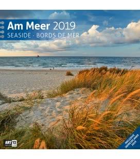 Nástěnný kalendář Pobřeží / Am Meer 2019