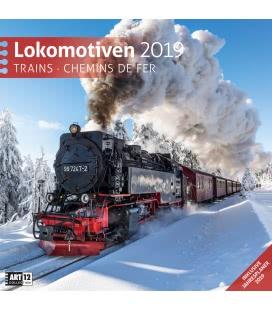 Nástěnný kalendář Lokomotivy / Lokomotiven 2019