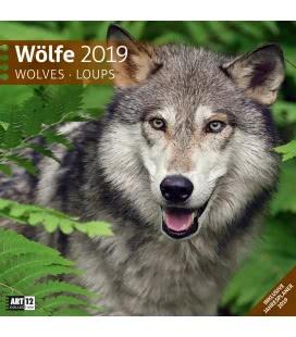 Nástěnný kalendář Vlci / Wölfe 2019