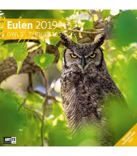 Wall calendar Eulen 2019