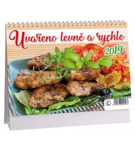 Stolní kalendář Uvařeno levně a chutně 2019