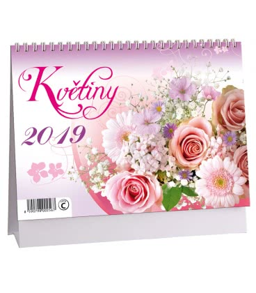 Table calendar Květiny 2019
