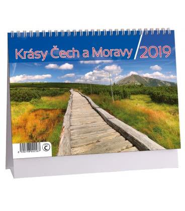 Table calendar Krásy Čech a Moravy 2019